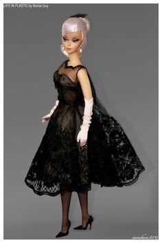 Black Magic. Cocktail Dress Barbie® doll