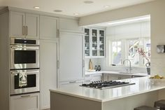 New Kitchen Remodel Grey Cabinets Farrow Ball Ideas Glass Kitchen, New Kitchen, Kitchen Dining, Rental Kitchen, Shaker Kitchen, Kitchen Ideas, Ikea Hacks, Layout Design, Design Ideas