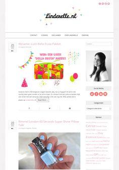 Super cute blog design running on an Angie Makes Wordpress theme.