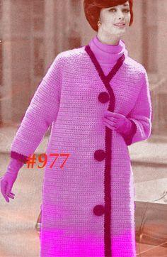 Almost FREE Vintage 1960s Mod Raglan Sleeve Coat 977 PDF