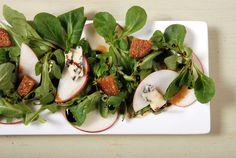 Red Apple, Mache, Fig & Stilton Salad | SeasonsTaproom.com