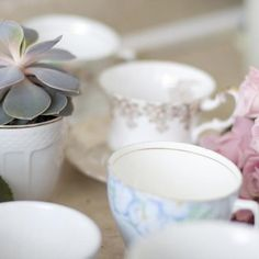 Buy teacups from a thrift store if your own are too precious to use.