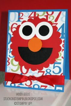 Stuck on Stampin: elmo birthday greeting