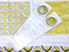 Homemade grommet tiebacks for nursery curtains.