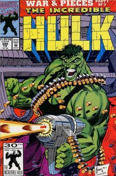 The Incredible Hulk. With a gun. Seriously, Marvel? That's about as redundant as, oh I dunno, giving Spider-Man a car - oh, hang on...