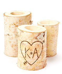 Take a look at this Birch Initial Candleholder Set today!