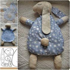 How to DIY Cute Bunny Pillow from Free Template | FabArtDIY.com Follow Us on…