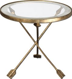 Uttermost Aero Glass Top Accent Table Available /Bella Maison