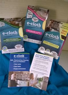We've partnered with e-cloth to give two lucky winners each a sample pack of their High Performance Dusting & Cleaning Cloth, a Bathroom Cloth, and a General Purpose Cloth so they can experience perfect cleaning with just water.