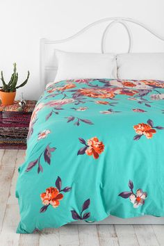 I know i know but i want this one too Plum & Bow Falling Garden Duvet Cover #UrbanOutfitters