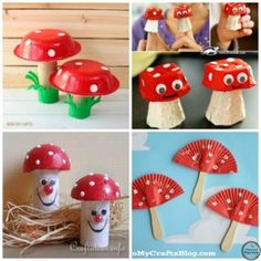 10 Spring Mushroom Crafts for kids. So Cute!