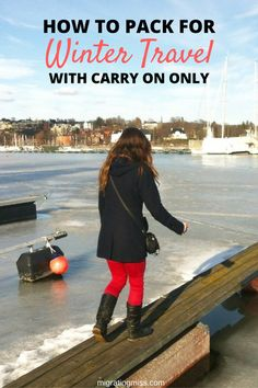 How to Pack for Winter Travel With Carry On Only Luggage #travel #carryon #luggage