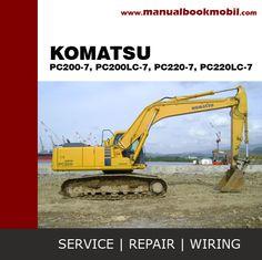 Service Manual Komatsu Excavator PC200-7, PC200LC-7, PC220-7, PC220LC-7 . Keterangan: Bentuk CD PDF dan Bahasa Inggris.