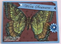 Julies Stamping Spot -- Stampin Up! Project Ideas Posted Daily: Fiji Swaps: Three Swallowtail Cards