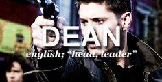 Supernatural names #Dean