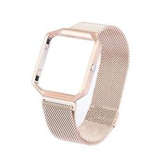 Fitbit Blaze Replacment Band Large6193TF Direct Metal Frame Housing with Magnet Lock Milanese Loop Stainless Steel Bracelet Strap Band for Fitbit Blaze Smart Fitness Watch -- Check out this great product.