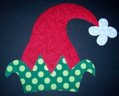 Fabric Applique TEMPLATE ONLY Christmas Elf Hat by etsykim on Etsy, $1.50
