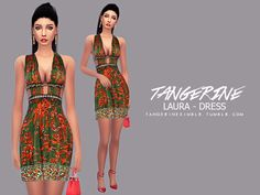 Valentino's dress, in 1 color / Custom Thumbnail  Found in TSR Category 'Sims 4 Female Everyday'