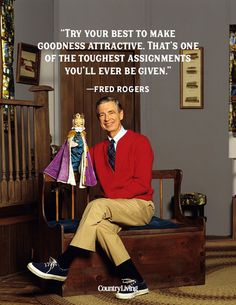 These inspiring Mr. Rogers quotes will make you feel more neighborly! #mrrogers #quotes #quotestoliveby #famousquotes