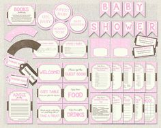 Girl Baby Shower Games and Decorations by PixieBabyShower on Etsy