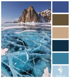 Cracked Ice: Navy, Blue, Pastel, Beige, Stone, Sand, Brown - Colour Inspiration Pallet