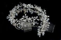 Wedding Hair Vine Headband of Crystals and Rhinestones