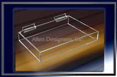 Slatwall Acrylic Accessories - 8 inch x 12 inch Large Display Tray For Slatwall