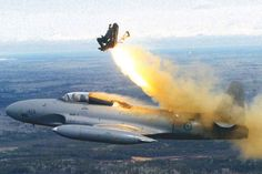 EJECTION FROM A CANADIAN MILITARY SILVER STAR- T133