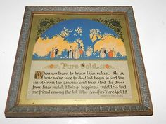 The paper backing looks good. Avon By The Sea, Best Motto, Life Values, Poems, Vintage Items, Pure Products, Learning, Paper, Frame