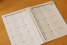 2018年度4月はじまり月間スケジュール帳☆時間軸付き[A5手帳術リフィル無料ダウンロード:Excelファイル&PDF] - conote