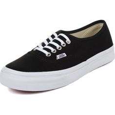Vans Unisex Authentic Slim Shoes In Black/True ❤ liked on Polyvore featuring shoes, black shoes, unisex shoes, vans footwear, kohl shoes and slim shoes