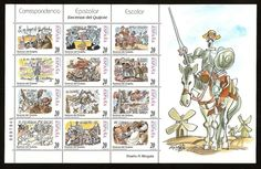 42 sellos literarios: series filatélicas de libros y escritores - Librópatas