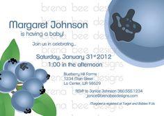 Blueberry Birthday/ Bridal/Baby Shower by brenabeedesigns on Etsy, $10.00