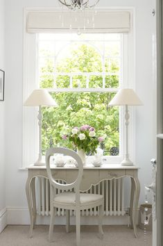 Design Dilemma: Decorating Around Radiators – Blue and White Home Painted Folding Chairs, Radiator Cover, Interior Decorating, Interior Design, White Cottage, Traditional Furniture, Spare Room, Radiators, My Dream Home