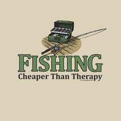 Fishing - Cheaper Than Therapy!  BransonVacationRentalCabins.com  #fishing #branson #rentalcabins
