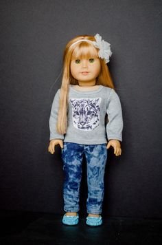 The Pandora pants for American Girl 18 inch doll clothes cute pants