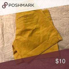 Mustard colored Mustard colored The Limited Shorts