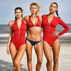 New BAYWATCH set photos featuring Alexandra Daddario, Kelly Rohrbach, Ilfenesh Hadera, Dwayne Johnson and Zac Efron. Alexandra Anna Daddario, Alexandra Daddario Baywatch, Dwayne The Rock, Zac Efron, Dwayne Johnson, Baywatch 2017, Film Trailer, Red Swimsuit, Hollywood Actresses