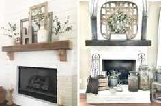 Oct 2019 - These mantel decorating ideas have all the farmhouse style. Find inspiration and how to advice for putting together your own display. Decor, Mantel Decorations, Diy Outdoor Decor, Farmhouse Mantel, Farmhouse Diy, Farmhouse Style, Home Decor, Farmhouse Homes, Farmhouse Fireplace Mantels