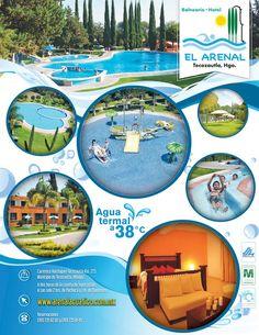 Ya #EsTiempoPara huir y qué mejor si te relajas en @BalnearioArenal #Tecozautla, disfruta de sus #AguasTermales