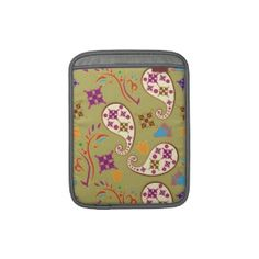 Pretty Paisley Pattern iPad Sleeves