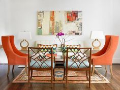 Take a living room from neutral to bold with bright pumpkin spice accents on HGTV.com. (http://photos.hgtv.com/photo/contemporary-living-room-with-vibrant-orange-chairs?soc=Pinterest)