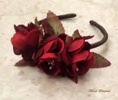 #Wrist corsage.#Silk #flowers.#Brides and #bridesmaids.#Black red color#ManalSolaiman@wardyfloral