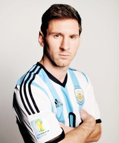 Lionel Messi of Argentina poses during the official FIFA World Cup 2014 portrait session on June 10, 2014 in Belo Horizonte, Brazil.