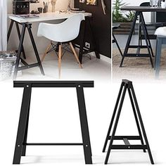 """Product Details: -Material: Solid wood -Each Leg Dimensions: 16.5""""W x 27.5""""H x 27.5""""D -Maximum load up to 110 lb. Please watch our video on youtube for easy ass"""
