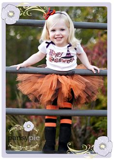 Orange And Black Tutu Set Halloween Tutu Costume Tutu Toddler Halloween Costumes 2T 3T 4T