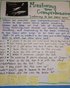 """monitoring comprehension--just read about this in """"Strategies that Work"""""""