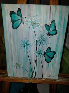 New Painting Art Projects Canvases Diy Wall Ideas Easy Canvas Painting, Simple Acrylic Paintings, Spring Painting, Pallet Painting, Pallet Art, Diy Canvas, Easy Paintings, Diy Painting, Painting On Wood