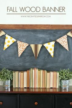 Check out 15 Fall Decor DIY Projects | Fall Wood Banner by DIY Ready at http://diyready.com/15-fall-decor-diy-projects/