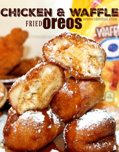 Are we loving all the wild assortment of OREO flavors molesting our news feed? Or are we doing collective eye rolls? I think I'm fascinated with the idea of 500 different ORE Sweet Recipes, Snack Recipes, Snacks, Different Oreo Flavors, Cooking Fried Chicken, Fried Oreos, Carnival Food, Waffle Mix, Chicken And Waffles